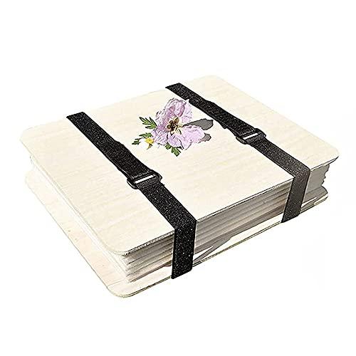 Kit de Prensa de Flores, 6 Niveles de Madera Seca, Artesanía DIY Kit, Kit de Prensa de Flores, Juego de Prensa de Hojas de Capas, para Manualidades de Bricolaje, Aprendizaje (18x24cm)