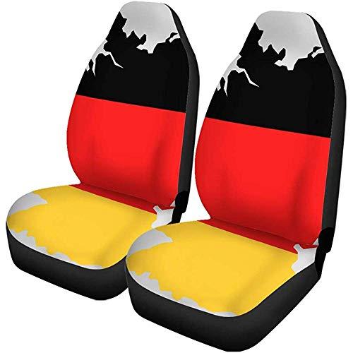 2 stuks autostoelhoezen kaart van Duitsland en Duitse vlag