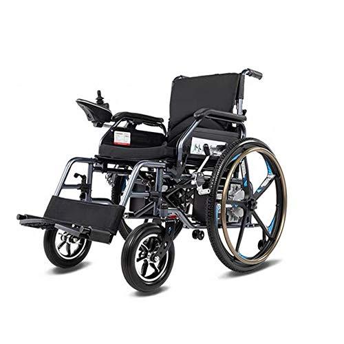 LJYT elektrische rolstoel, draagbaar, inklapbaar, mobiel, multifunctioneel, 4 wielen, 360 graden draaibaar, voor verschillende routes, scooters voor oudere mensen