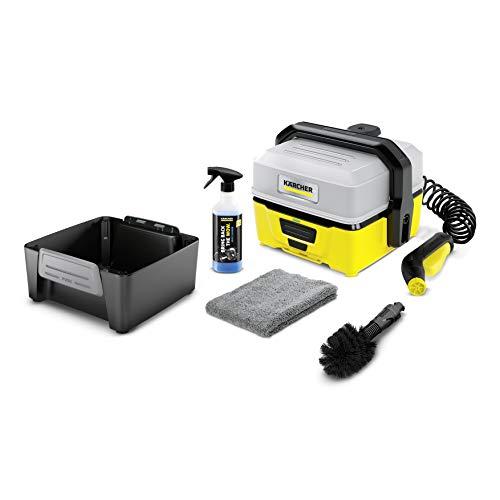 Kärcher Mobile Outdoor Cleaner OC 3 Bike Box (Wassertankvolumen: 4 l, Lithium-Ionen-Akku, abnehmbarer Wassertank, schonender Niederdruck, Universalbürste, Fahrradreiniger, Mikrofasertuch)