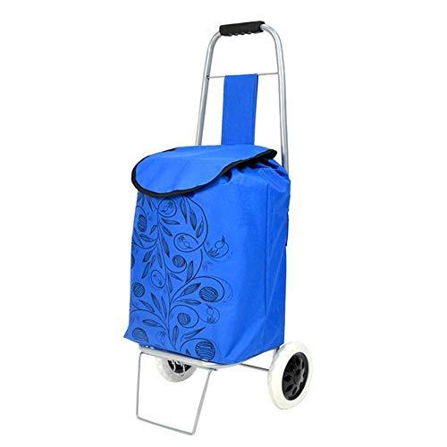 ZLININ Y-longhair Carros de la compra de montañismo, carros pequeños, carros plegables, carros de compra portátiles para el hogar. Tamaño: 26 x 22 x 90 cm.