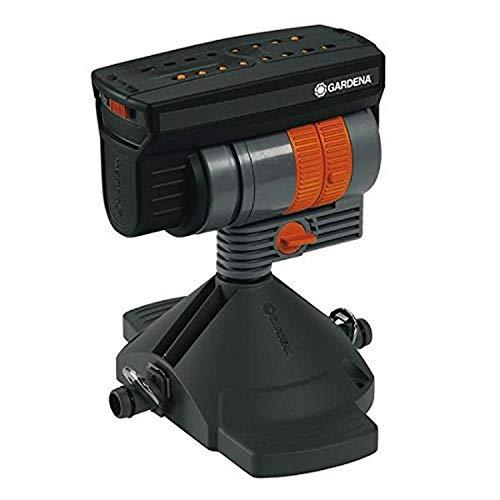 Gardena 8361-20 Aspersor 90 para Ahorrar Agua regando Superficies cuadradas, Negro, Naranja, oscilante