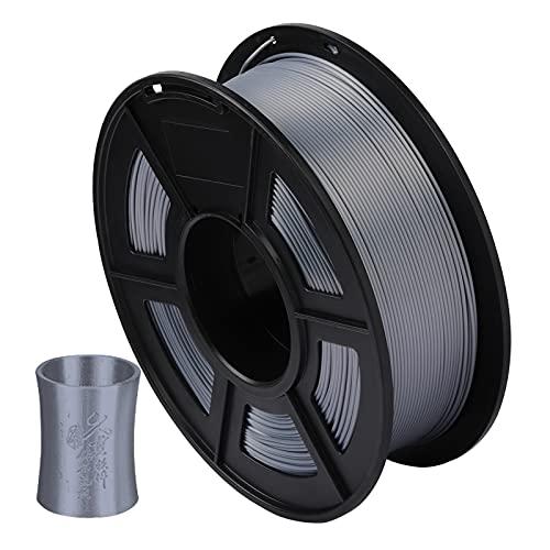 Dounan Filamento Pla,Silk PLA Filamento de impresora 3D 1.75 mm Precisión dimensional +/- 0.02 mm 1 kg (2.2lbs) Carrete, gris