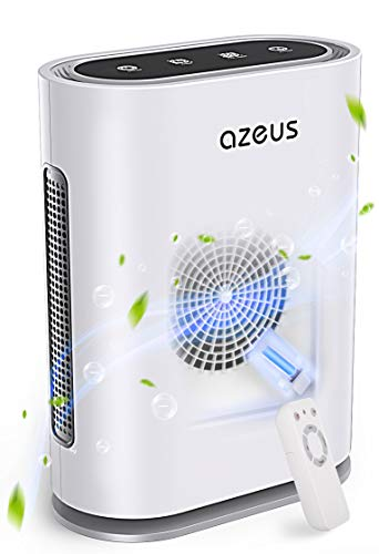 AZEUS 7-in-1 Air Purifier Cleans 99.97% of Air Particles for Large room to 540ft². True HEPA Filter with UV Light and Smart Sensor, Effective for Pollen, Smoke, Dust, Pet Dander, Asthma, Night Light