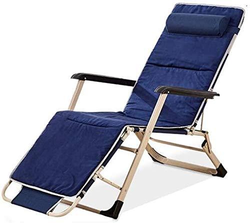 Tumbona reclinable en gravedad cero, tumbona multiposición, terraza al aire libre, jardín perezoso (color: almohadilla de algodón tridimensional) tumbona (color: incluye almohadillas de algodón)