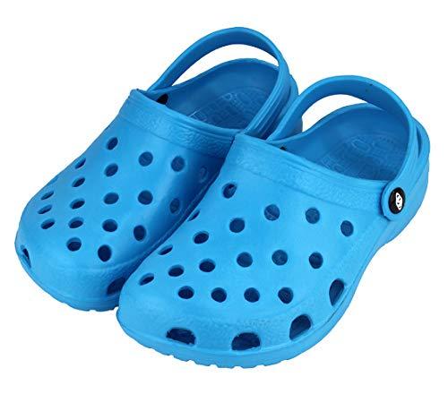 LOVEVA Zueco Sanitario Laboral Slipper, Zapatillas de Casa, Talón Abierto para Hombre Mujer Unisex, Antideslizante (810M Azul Claro, 41)