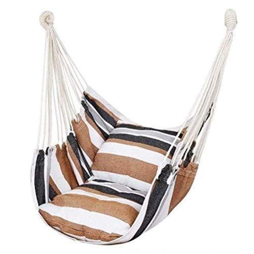 XJZKA Hammock Chair Hanging Rope Swing Seat for Indoor Outdoor, Cotton Weave Hammock Swing for Bedroom Patio Porch