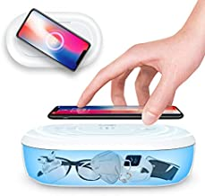 Cahot Portable UV Sanitizer, Multi-Function UV Light Sterilizer, UV Phone Cleaner Box with Aroma Diffuser, Fast Charging for Smart Phone, UV Sterilizing Box for Cell Phone, Jewelry, Watches, Glasses