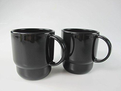 TUPPERWARE Exclusiv Trinkbecher schwarz (2) Tasse Thermo Tup Becher mit Henkel