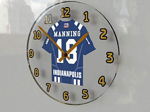 FanPlastic Peyton Manning 18 Indianapolis Collts NFL Wanduhr – American Football Legends Limited Edition