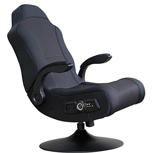 X Rocker, 5142101, Commander 2.1 Sound Wireless Pedestal Gaming Chair, Black