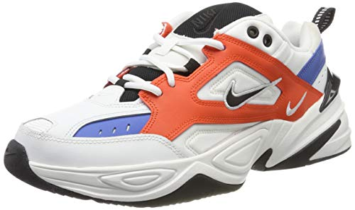 Nike M2K Tekno, Zapatillas de Running para Asfalto para Hombre, Multicolor (Summit White/Black/Team Orange 100), 45 EU