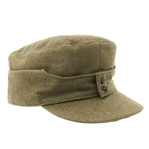 German WWII M43 Cap in Field Grey Wool- Size 7.25 (58 cm)