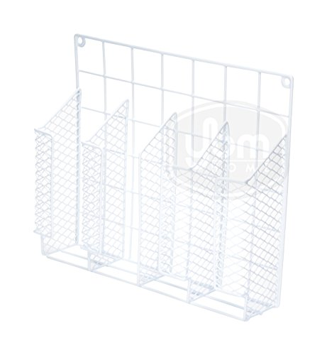 YBM HOME Ybmhome 4 Compartment Wall Mount Kitchen Storage Organizer Holder Basket Pantry Caddy Wrap Rack for Aluminum Foil, Sandwich Bags– White 2232 (1)