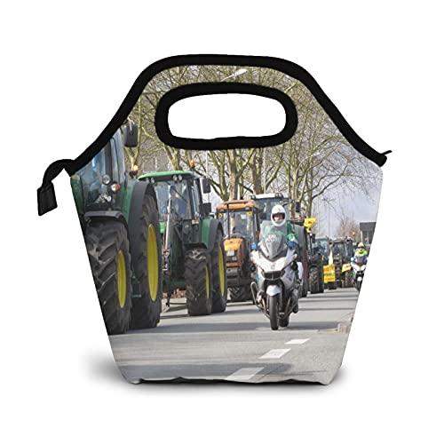 Bolsa Térmica Comida Bolsas De Almuerzo para Mujeres Hombres Niñas Niños Bolsa Isotérmica De Almuerzo Agricultura de motos de asfalto