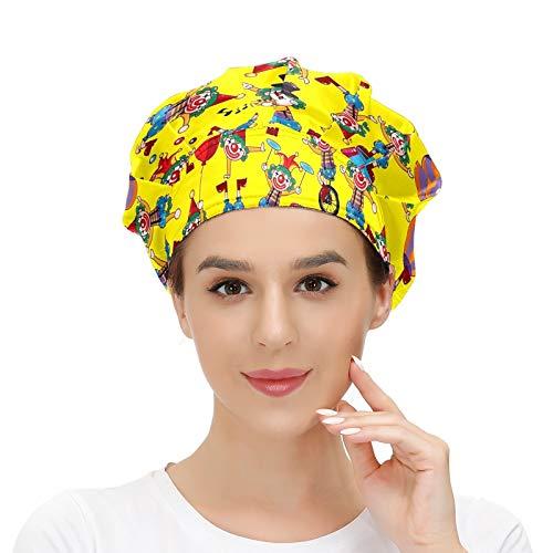Gorra de trabajo con banda para el sudor, bolas de payaso de circo, globos elásticos, ajustables, gorras de trabajo para mujeres y hombres, talla única, bufanda de cabeza de trabajo, multicolor