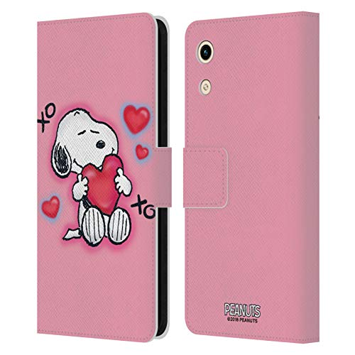 Head Hülle Designs Offizielle Peanuts XOXO Snoopy Plankenweg-Spritzpistole Leder Brieftaschen Handyhülle Hülle Huelle kompatibel mit Huawei Honor Play 8A