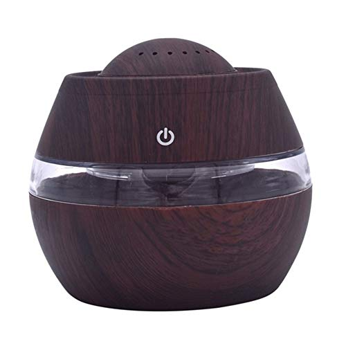 XINGFUQY Diffuseur Définit Humidifier USB Mini ultrasons Air Aroma Huile Essentielle Diffuseur LED Humidifie aromathérapie 300ml Nov2 (Color : BW)