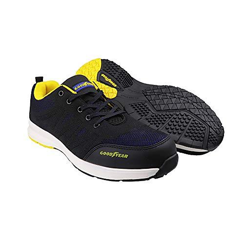 Goodyear GYSHU1560 calzado de trabajo, 10/44, negro/azul, 1
