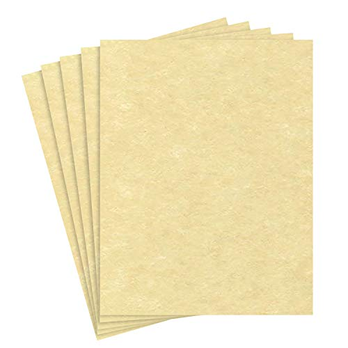 Astroparche - Ancient Gold Parchment 65lb Cover Stock - Size 8.5 X 11-50 Per Pack.