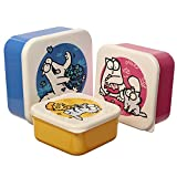 Puckator 3er Set Lunchbox M/L/XL - Simon's Cat Frühstücksdose Brotdose Frischedose, LBOX36