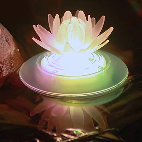 QSBY Solar-Pool-Licht-LED im Freien Schwimmleuchte wasserdichte Schwimmbad Licht geeignet für den Garten Schwimmbad Aquarium,Lotus