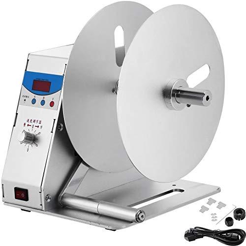 VEVOR Automatische Etikettenaufwickler 220 V, Automatischer Etiketten-Umwickler max.115 mm, Etikett Aufwickler, Rückspulmaschine, Zurückspulen Maschine, Aufwickelmaschine, Etikettenrückspulmaschine