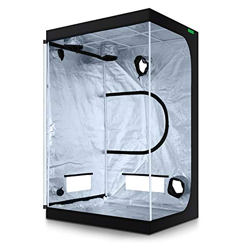 """VIPARSPECTRA 48""""x48""""x80"""" Reflective 600D Mylar Hydroponic Grow Tent for Indoor Plant Growing 4'x4'"""
