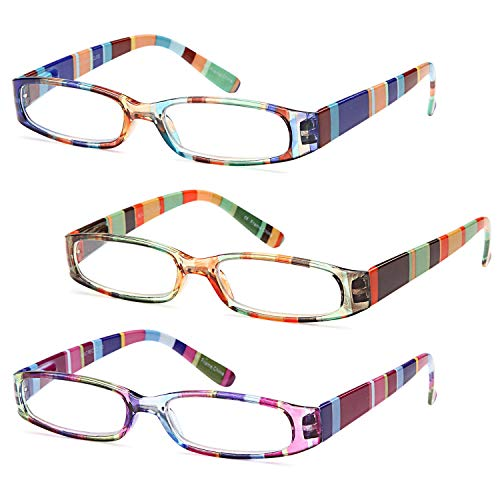 Gamma Ray Women's Reading Glasses - 4 Pairs Ladies Fashion Readers for Women - 1.50