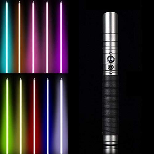 11 espada variable Rgb Jedi Sith resplandor espada efecto fuerza iluminación Duel color sonido Foc bloqueado mango de metal. pistola