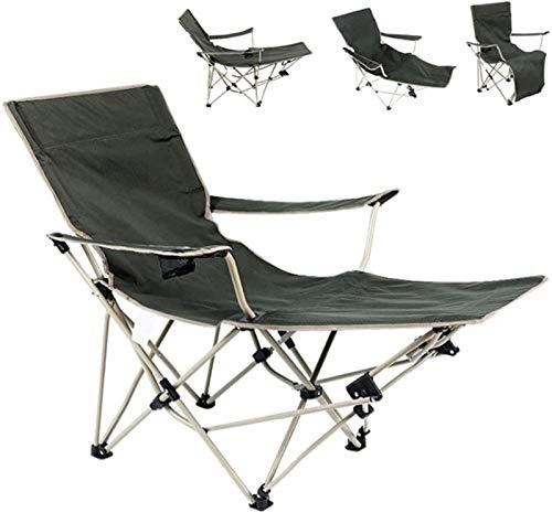 XINGDONG Sillas de camping portátiles al aire libre Silla de playa plegable funcional para dormir y asientos duraderos