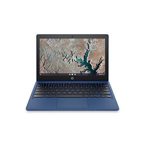 "HP Chromebook 11.6"" HD (1366 x 768) Anti-Glare Laptop Computer, MediaTek MT8183 Octa-Core, 4 GB RAM, 64 GB eMMC, Media Card Reader, Wi-Fi, Bluetooth, Webcam, Chrome OS, 64GB ABYS MicroSD Card"