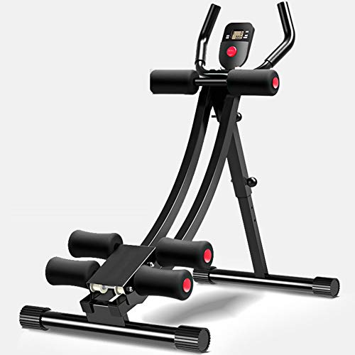 TriGold Sostenible Entrenador Abdominal Core,Equipo De Máquina De Fitness Multifunción W Led,Dispositivo Auxiliar del Movimiento del Abdomen para El Gimnasio En Casa A