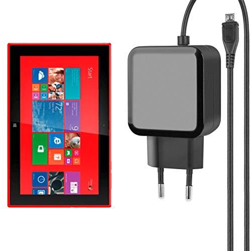 Fontastic Essential Ladegerät Micro-USB für Nokia Lumia 2520 - Schwarz - 1,2m - 2,4A