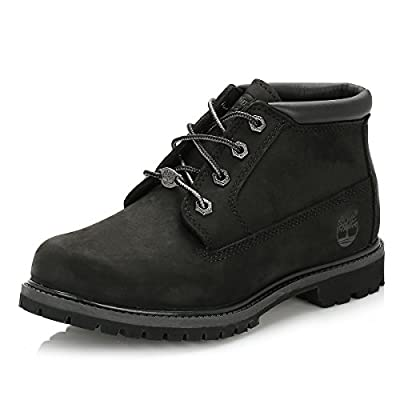 Timberland Women's Nellie Double Waterproof Ankle Boot,Black,7 M US
