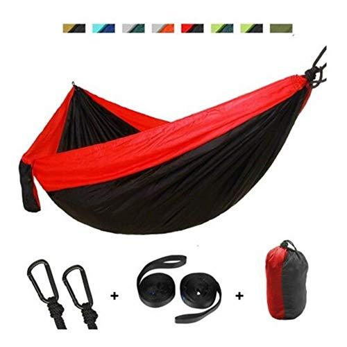 XINGJIJIJIA Très Extérieur Double Camping hamac Balancelle Suspendu en Nylon 210T Tente avec Sac de Rangement 260 * 140cm Choix (Color : Red Green)