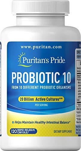 Puritans Pride Rapid Release Probiotic, 120 Count