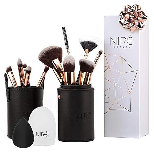 Niré Kit Pennelli Professionali Next Level Kabuki, Versatile, Niré Beauty Blender, Pulitore Pennelli