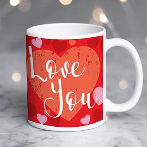 """Taza personalizada con texto en inglés """"Love You"""", personalizable para One I Love, añadir un mensaje especial, Love You, taza personalizada para tía, taza personalizada para la persona que amas."""
