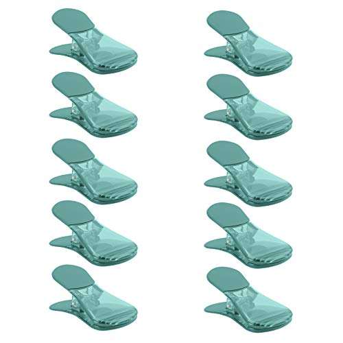 COOK with COLOR 10 Pc Bag Clip with Magnet Chip Bag Clip Sealing Food Clips Plastic Clips for Food and Kitchen Storage Chip Clip and Snack Bag Clips Fridge Clips - Teal