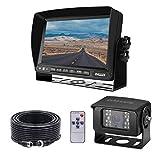 Rückfahrkamera-Monitor-Kit mit 7 Zoll Bildschirm und Nachtsicht-Rückfahrkamera für schwere...