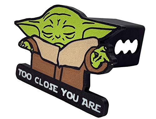 Baby Yoda Trailer Hitch Cover - Too Close