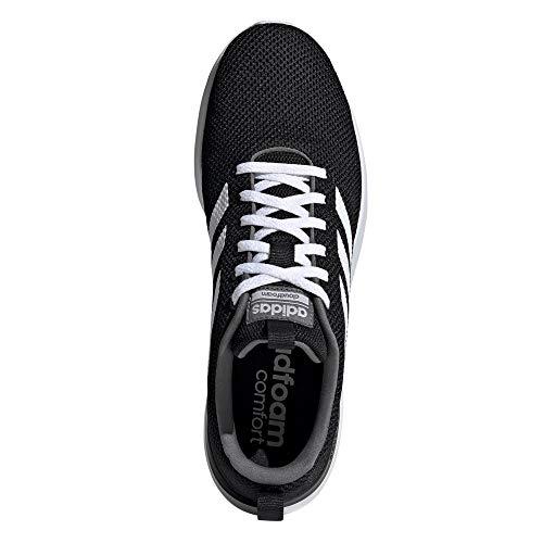 adidas Lite Racer CLN, Zapatillas para Correr Hombre, Core Black/FTWR White/Grey Four F17, 42 2/3 EU