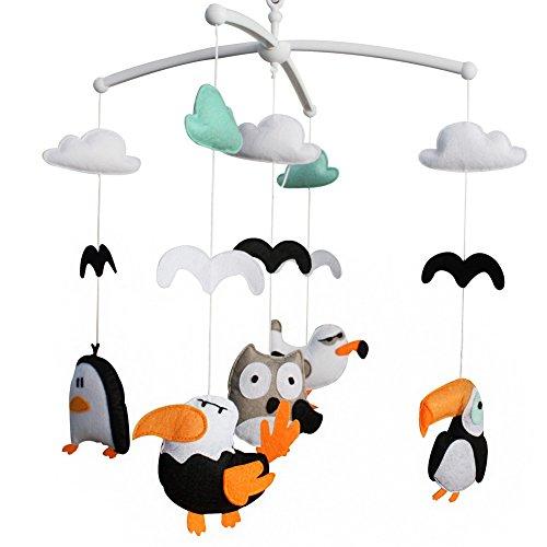 Móvil de la cuna con los juguetes colgantes de la decoración, [pájaros] Regalo del bebé, creativo