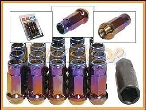 Muteki SR48 Open End Lug Nuts - Burning Blue Neon 12x1.50 48mm