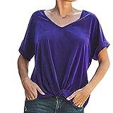 T-shirt décontracté à manches courtes pour femme décontracté col rond lâche...