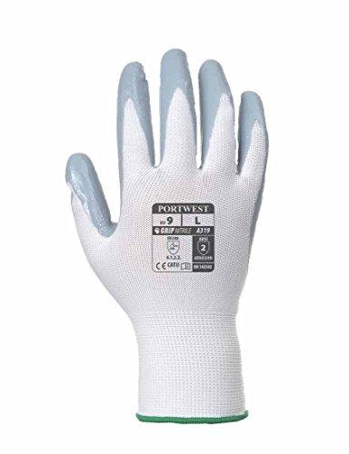Portwest A319 - Flexo Grip handschoen - tas, Size: XX-Large, wit/grijs, 1