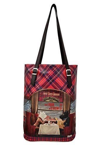 DOGO Damen Handtasche - Shopper - Schultertasche - vegan - Tall Bag - Scottish Dinning Car