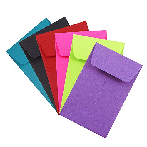 JAM PAPER #1 Coin Business Colored Envelopes - 2 1/4 x 3 1/2 - Assorted Colors - 150/Pack