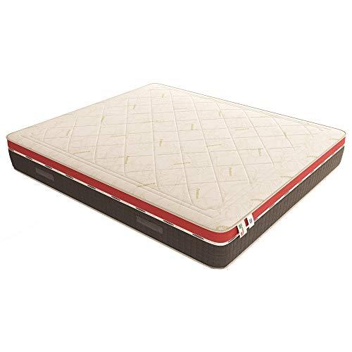 Baldiflex Materasso Singolo Molle Insacchettate e Memory, Energy 800 Molle + 5 cm Memory, 7 Zone Differenziate, 100 Notti di Prova, Altezza 26 cm 90x200 cm